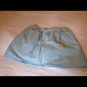 Lilly Pulitzer Seersucker skirt, mint green, XL